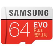 SAMSUNG EVO Plus 64GB MicroSDXC Memory Card with Adapter